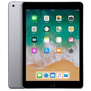 """iPad 6ª Geração 9.7"""" 32GB Cinza-espacial Wi-Fi + Cellular (compatível com Apple Pencil)"""