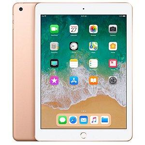 """iPad 6ª Geração 9.7"""" 128GB Dourado Wi-Fi + Cellular (compatível com Apple Pencil)"""