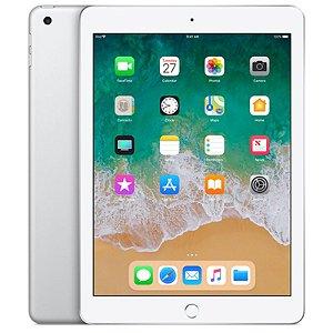 """iPad 6ª Geração 9.7"""" 128GB Prateado Wi-Fi + Cellular (compatível com Apple Pencil)"""