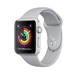 Apple Watch Series 3 42mm Caixa Prateada de Alumínio com Pulseira Esportiva Névoa