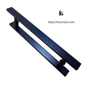 Puxador Porta 40cm total x 30cm entre furos Plano Preto