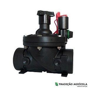 """VALVULA BERMAD PLASTICA ELETRICA S-210 2"""" COM FECHO"""