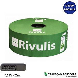 TUBO GOTEJADOR RIVULIS D1000 1,5L/H - 20CM (ROLO DE 1.000M)