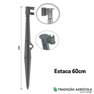 HASTE PARA MICROASPERSORES C/ GARRA LATERAL 60CM