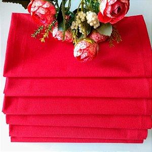 Guardanapo em tecido vermelho