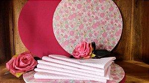 Guardanapo 100% algodão poá rosa claro