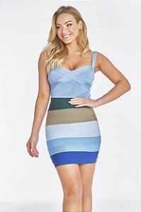 Shorts Saia Curto Mix Color Lorrane Azul