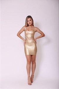 Vestido Curto Bruna Dourado