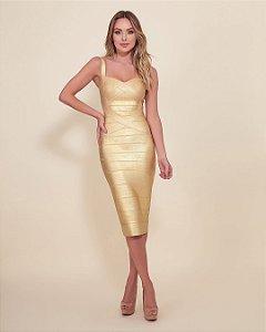Vestido Midi Bruna Dourado
