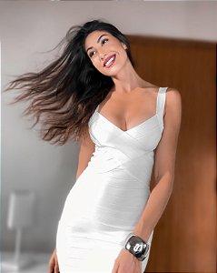 Vestido Curto Isabela Branco