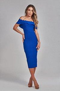 Vestido Midi Hillary Azul Bic