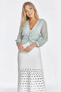Camisa Olivia Verde Pistache