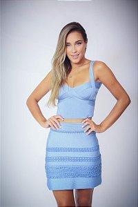 Shorts Saia Curto Kiki Azul