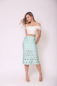 Cropped Jade Off White