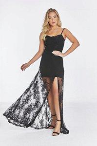 Vestido Longo Olympia Preto