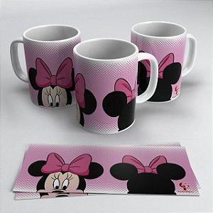 Caneca Disney Minnie Rosa