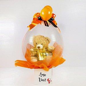 Balão Surpresa Ursinho Dourado