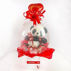 Balão Surpresa Panda Amoroso