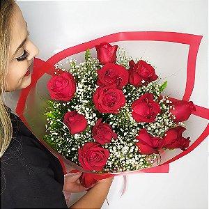 Buquê 1 dúzia de rosas