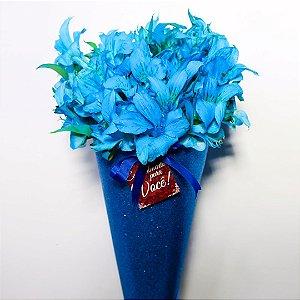 Buquê Shine Astromélia azul