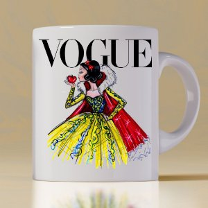 Caneca Vogue Princess Branca de neve