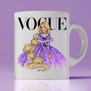 Caneca Vogue Princess Rapunzel