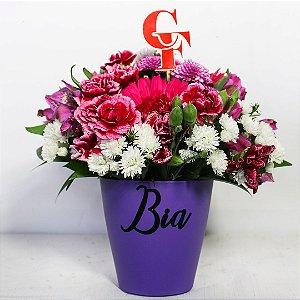 Arranjo Nomes especiais lilás
