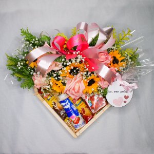 Cesta Floral de guloseimas M
