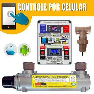Aquecedor de Piscinas Hidrohot Wifi e Ionizador 10m³ até 10.000Lts
