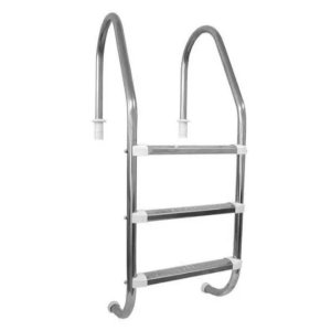 Escada Extended Libra Inox 3 degraus Inox Ponteira ABS