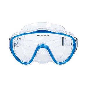 Óculos De Mergulho Sodramar Azul Claro Sem Estojo