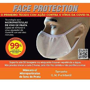 Máscara Face Protection - tecido que elimina o coronavírus