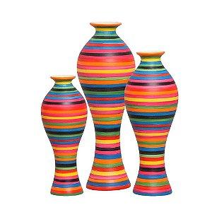 Vaso Decorativo Califórnia Em Cerâmica