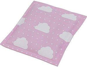 Bebê Sem Cólica Almofada Térmica de Sementes Nuvem Rosa