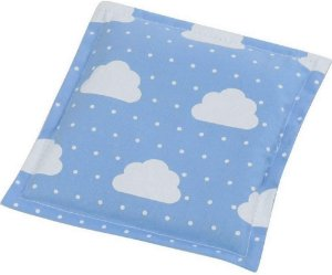 Bebê Sem Cólica Almofada Térmica de Sementes Nuvem Azul