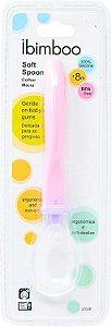 Ibimboo Colher Silicone Soft Spoon Rosa