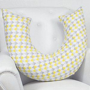 Laura Baby Almofada Amamentação Losango Amarelo