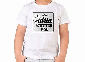 Camiseta Infantil Branca Personalizada 02 ao 14