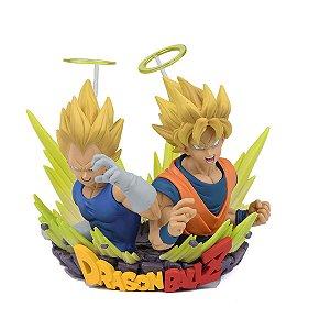 Vegeta e Goku Super Sayajin - Dragon Ball Z Banpresto