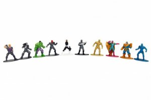 Kit Vingadores - Nano Metalfigs Marvel Avengers Diecast Metal Pack c/ 10 peças Jada Toys