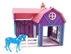 Celeiro Colorido - Horse Crazy Barn Stablemates Breyer 1:32
