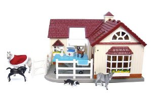 Hospital Veterinário - Deluxe Animal Hospital Stablemates Breyer 1:32