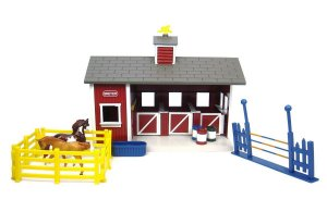 Cocheira Red Stable Set - Stablemates Breyer 1:32