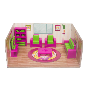 Casinha Boneca Mini Sala Tatty Fashion