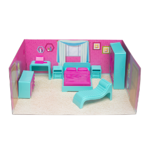 Casinha Boneca Mini Quarto Tatty Fashion