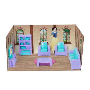 Casinha Boneca Mini Sala Princesas Disney