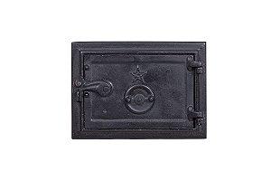 Porta para Cinzeira de Fogão a Lenha em Ferro Fundido - 27 x 23 cm