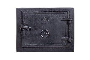 Porta para Forno Fornalha de Fogão a Lenha em Ferro Fundido - 34 x 29 cm