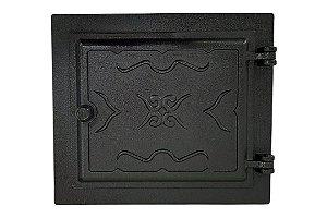 Porta para Forno Fornalha Grande de Fogão a Lenha em Ferro Fundido - 55 x 41 cm