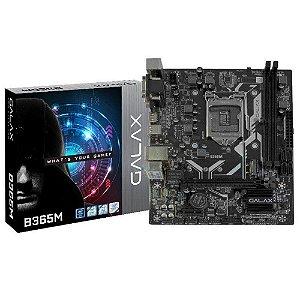 Placa Mãe Galax B365M Chipset B365 Intel LGA 1151 mATX IB365MAGCHJ1CW - Galax